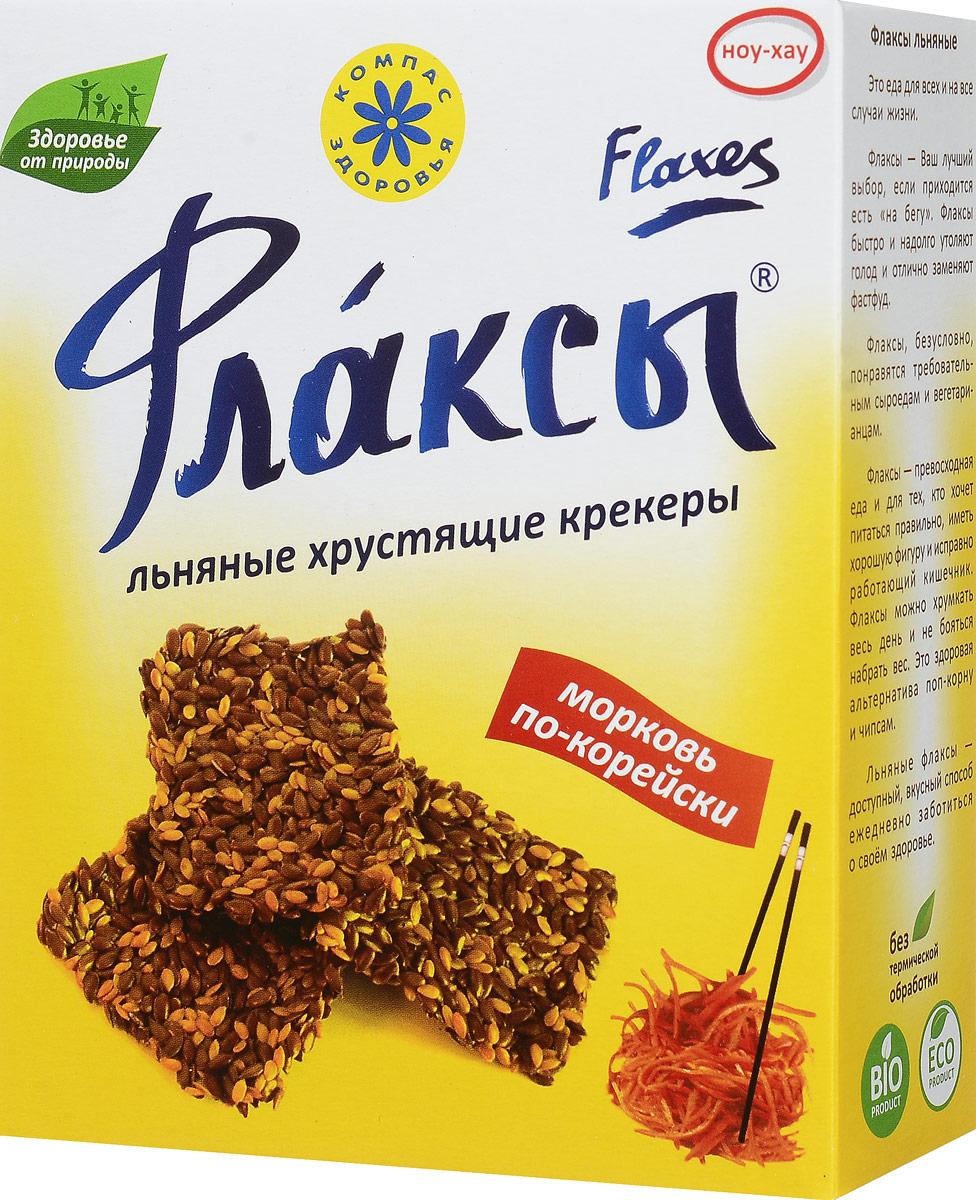 Компас Здоровья Флаксы с морковью по-корейски, 150 г хлеб