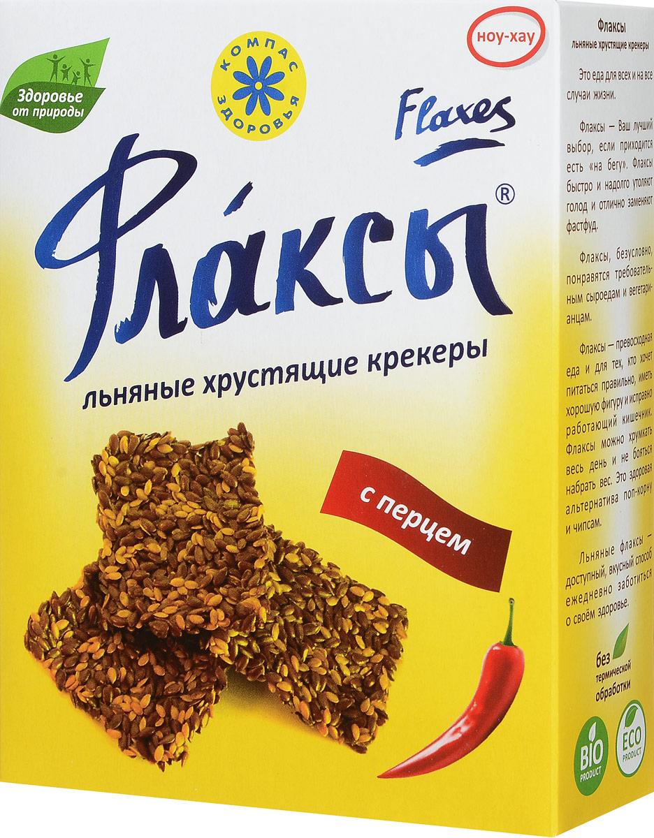 Компас Здоровья Флаксы с перцем, 150 г