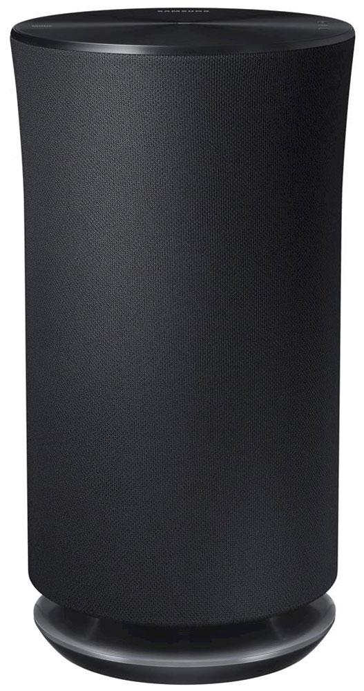 Samsung WAM5500 портативная акустическая системаWAM5500/RUSamsung WAM5500 - стильная беспроводная акустическая система.360 - это всенаправленный или окружающий звукВ отличие от обычных динамиков, излучающих звук в одном направлении, акустическая система Wireless Audio – 360 заполняет звуком всю комнату. Это обеспечивается использованием специально разработанного кольцевого радиатора (Ring Radiator), излучающего звук во всех направлениях.Лаконичный, но эффектный дизайн аудиосистемы вносит оттенок роскоши в интерьер вашего дома. Гладкая верхняя панель снабжена OLED дисплеем и служит панелью управления устройством.С помощью интуитивного интерфейса верхней панели управления системой вы легко сможете выбирать любимые музыкальные треки. Просто коснитесь кнопки и скользните по панели для перехода к следующему треку, а с помощью кнопки Mode вы сможете переключиться в режим Wi-Fi, Bluetooth и TV SoundConnect. Яркий OLED дисплей позволит вам всегда контролировать текущий режим устройства.Простой и интуитивный интерфейс приложения Multiroom App облегчает поиск и воспроизведение музыкальных файлов. Для навигации и выбора музыкальных треков можно использовать удобный сенсорный диск. С его помощью вы легко сможете воспроизводить музыку непосредственно с главного экрана, а также перемещаться по опциям меню.Управляйте вашей музыкой прямо со своих умных часов с помощью приложения Multiroom App, доступного теперь для часов Samsung Gear S и Apple Watch. Забудьте про свой смартфон и пользуйтесь часами для выбора и управления воспроизведением и громкостью звука.Функция Multiroom Link позволит легко управлять музыкой от одного источника звука и выводить ее на различные динамики, расположенные в разных местах вашего дома.Динамики: ВЧ (25 мм), НЧ (125 мм)Поддержка ОС: Android 2.3.3 и выше
