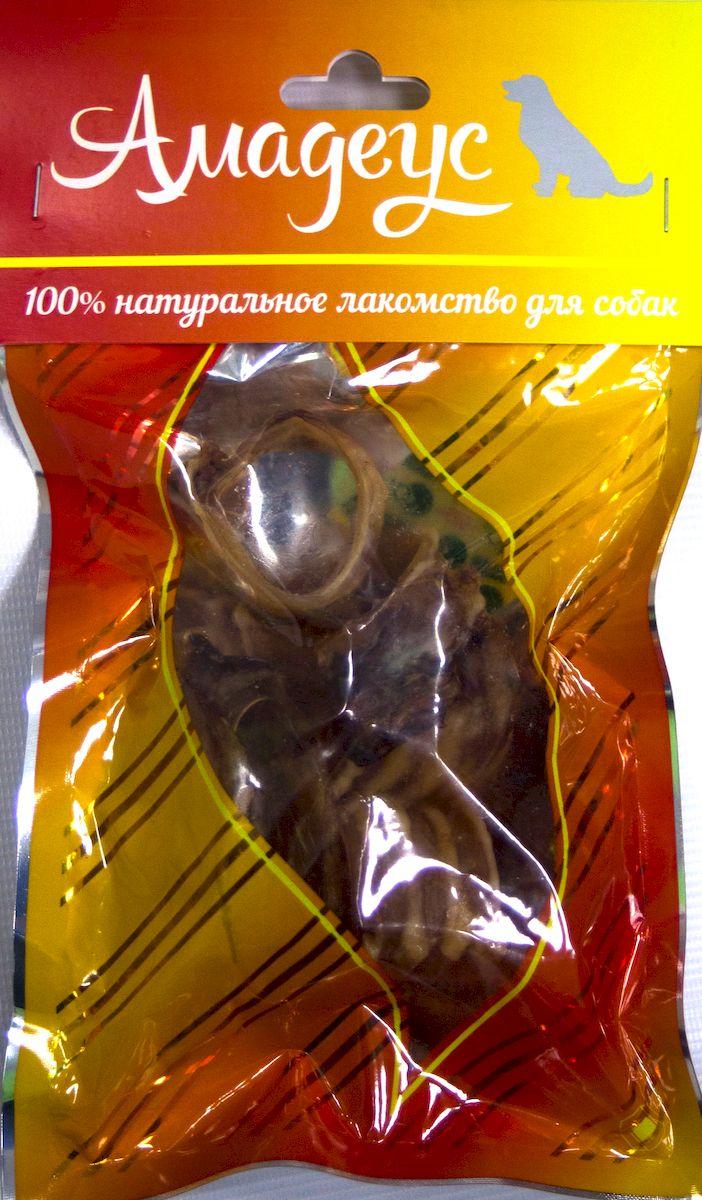 Лакомство для собак Амадеус Трахея большая колечками баранья, 5 шт58536Лакомство для собак Амадеус Трахея большая колечками баранья - 100% натуральный продукт почти без запаха, а также без содержания химических добавок. При сушке не использовались отбеливатели и консерванты. Лакомство изготавливается из тщательно отобранного и проверенного высококачественного отечественного сырья.Содержит низкокалорийный, легкоусвояемый, гипоаллергенный белок. Продукт богат витаминами и ферментами микрофлоры желудка жвачных животных.В упаковке 5 колечек трахеи.Рекомендовано для профилактики витаминного и ферментного дефицита у собак и кошек всех пород и возрастов. Товар сертифицирован.Расстройства пищеварения у собак: кто виноват и что делать. Статья OZON ГидТайная жизнь домашних животных: чем занять собаку, пока вы на работе. Статья OZON ГидЧем кормить пожилых собак: советы ветеринара. Статья OZON Гид