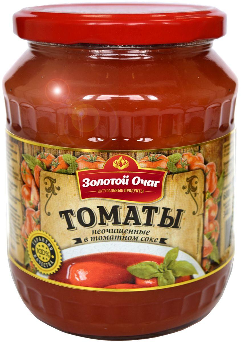 Золотой Очаг томаты в томатном соке, 680 г