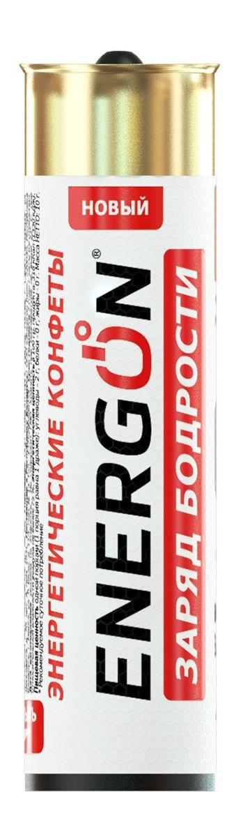 Energon Заряд бодрости энергетические конфеты, 5 шт47050683800009Конфеты ЭНЕРГОН содержат тонизирующий комплекс на основе натурального кофеина из ягод гуараны и листьев зелёного чая: · освежает и заряжает энергией и бодростью · повышает концентрацию внимания, улучшает реакцию · помогает бороться с сонливостью и усталостью Не рекомендуется принимать: Более двух драже в сутки Ограничение по возрасту до 18 лет Беременным и кормящим женщинам Лицам, страдающим гипертензией Индивидуальная непереносимость компонентов