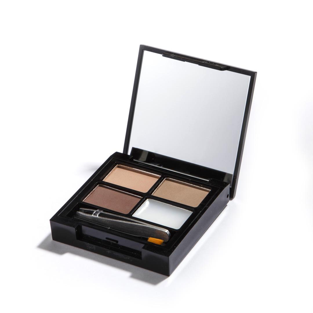 Makeup Revolution Набор для бровей Focus & Fix Eyebrow Shaping Kit, Light Medium, 4 гр14177Палетка включает в себя все необходимое для того, чтобы выполнить идеальный макияж бровей - 3 оттенка теней, фиксирующий форму воск, аппликатор для нанесения и пинцет.Тени легко смешиваются между собой, что позволяет добиться идеального попадания в естественный для вас оттенок.