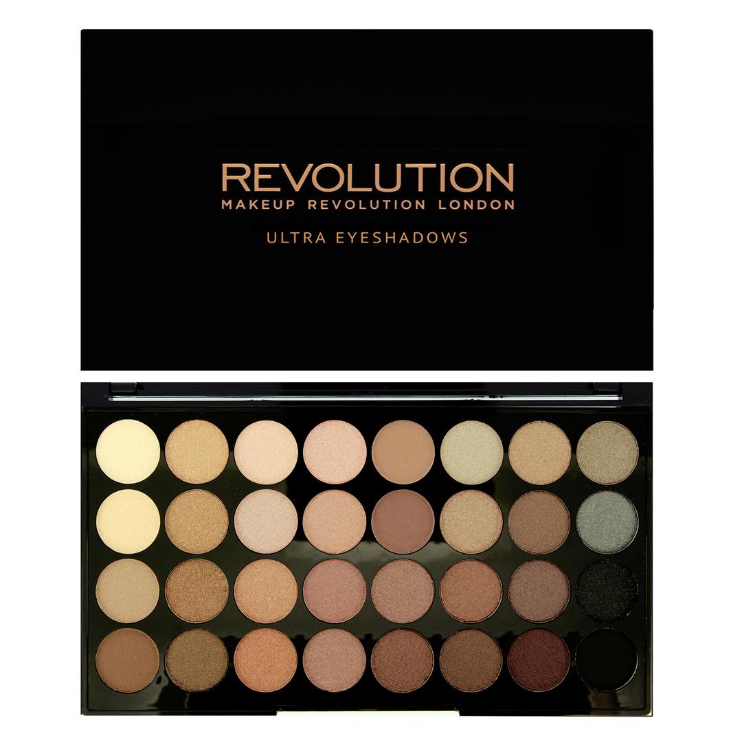 Makeup Revolution Набор из 32 теней 32 Eyeshadow Palette, Flawless, 16 гр makeup revolution набор теней i heart makeup wonder palette naked chocolate