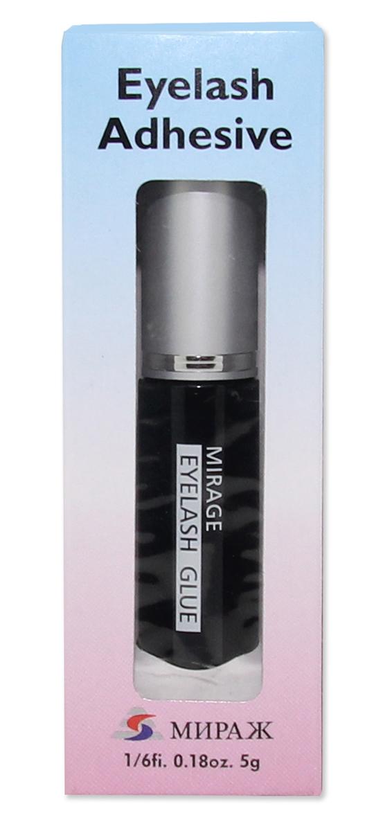 Mirage Клей для ресниц с кисточкой водостойкий черный, 5 гр57741Водостойкий клей для накладных ресниц черный с кисточкой. Прочно зафиксирует накладные ресницы к Вашему веку и не будет заметен.