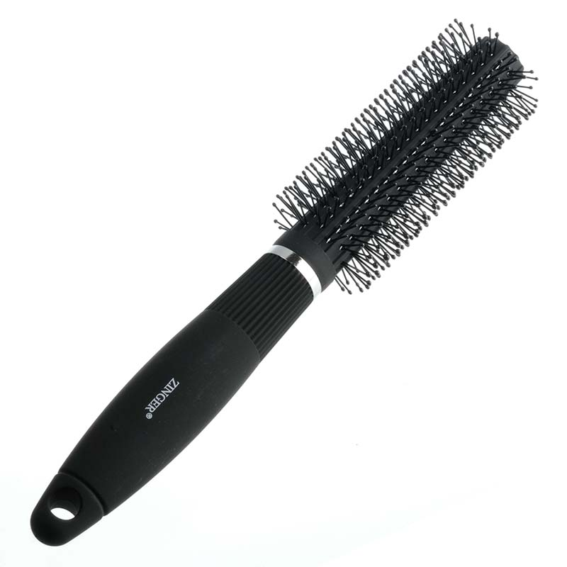 Zinger Расческа массажная для укладки sz-9-04-8517MNU77827Расческа массажная - профессиональный инструмент для ухода за волосами. Проникая в волосы, расческа полностью захватывает волосы и хорошо скользит по всей их длине, оказывая мощное тонизирующее воздействие на кожу головы. Это стимулирует процессы кровообращения и питания волос изнутри для их более активного роста.