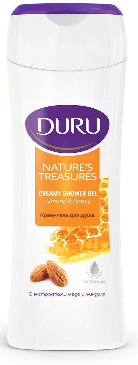 Duru Natures Treasures Гель для душа Мед/Миндаль 250мл8003206001Благодаря уникальному сочетанию миндального масла и меда, крем-гель для душа питает и увлажняет. Ваша кожа выглядит нежной и бархатистной.