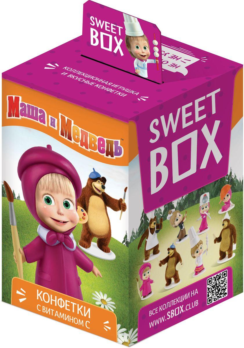 Sweet Box Маша и Медведь драже с игрушкой, 10 гУТ18682Драже с игрушкой Sweet Box Маша и Медведь - это не только вкусное лакомство, но и забавная игрушка, выполненная в виде одного из героев любимого детского мультфильма Маша и Медведь.В коллекции 8 персонажей, а сама игрушка выполнены из качественного пластика. Пока не откроете коробочку - не узнаете какая игрушка вам попалась!Внимание! Игрушка предназначена для детей старше 3-х лет.