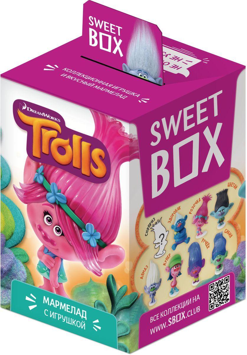 Sweet Box Тролли мармелад с игрушкой, 10 г sweet box пушистики щенята коллекция 2 жевательный мармелад с игрушкой 10 г