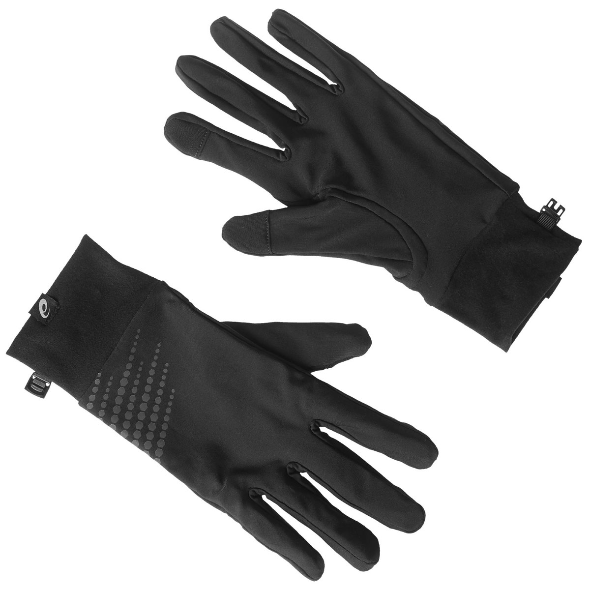 Перчатки для бега Asics Basic Performance Gloves, цвет: черный. 134927-0904. Размер S (8)134927-0904Спортивные перчатки для бега Asics выполнены из полиамида и эластана, комфортных при носке. Снаружи модель оформлена оригинальным принтом и нашивкой с изображением логотипа бренда. Манжет надежно зафиксирует модель на запястье, не сдавливая его. Также перчатки оснащены застежкой-фастексом.