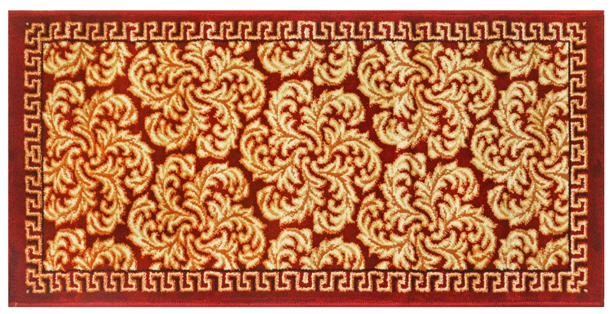 Ковер Kamalak tekstil, прямоугольный, цвет: зеленый, 50 x 100 см. УК-0520УК-0520Ковры-паласы выполнены из полипропилена. Ковры обладают хорошими показателями теплостойкости и шумоизоляции. Являются гиппоалергенными. За счет невысокого ворса ковры легко чистить. Вам придется по душе широкая гамма цветов и возможность гармонично оформить интерьер. Практичный и устойчивый к износу ворс - от постоянного хождения не истирается, не накапливает статическое электричество. Структура волокна в полипропиленовых моделях гладкая, поэтому грязь не может выесться, на ворсе она скапливается с трудом. Полипропилен не впитывает влагу, отталкивает водянистые пятна. Уход: Самый простой способ избавить изделие от грязи – пропылесосить его с обеих сторон (лицевой и изнаночной).Влажная уборка с применением шампуней и моющих средств не противопоказана. Если шерсти и шёлку универсальные чистящие составы не подходят, то для синтетики они придутся в самый раз.Хранить их нужно рулоном, не складывая «салфеткой».При надлежащем уходе синтетический ковёр прослужит долго, не утратив ни яркости узора, ни блеска ворса, ни его упругости.