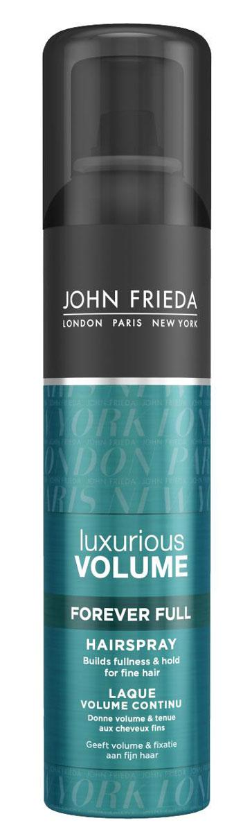 John Frieda Лак для волос Luxurious Volume, для придания объема, длительная фиксация, 250 млjf413420Создает пышность и сохраняет объем укладки для тонких волос. Придает роскошный объем тонким волосам и сохраняет прическу надолго. Лак для придания объема длительной фиксации Luxurious Volume теперь содержит Vitality Complex с кофеином, его ультра легкая невесомая формула гарантирует надежную фиксацию и легко расчесывается. Применение: Перед использованием хорошо встряхните флакон. Держите его вертикально и распыляйте на расстоянии 25-30 см от волос, чтобы завершить и зафиксировать укладку. Для дополнительного объема слегка приподнимите волосы вверх от корней сразу после распыления.