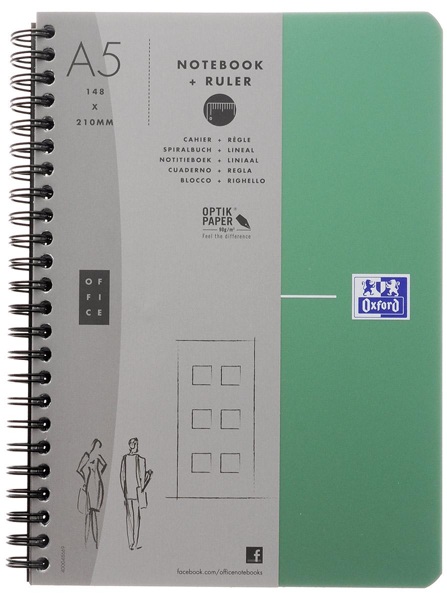 Oxford Тетрадь Urban Mix 90 листов в клетку цвет зеленый817865_зеленыйКрасивая и практичная тетрадь Oxford Urban Mix отлично подойдет для офиса и учебы. Тетрадь формата А5 состоит из 90 белых листов с четкой яркой линовкой в клетку.Обложка тетради выполнена из плотного полипропилена и оформлена символом Оксфордского университета. Двойная спираль надежно удерживает листы. Также тетрадь имеет скругленные углы и гибкую съемную закладку-линейку из матового полупрозрачного пластика с изображением Лондона.