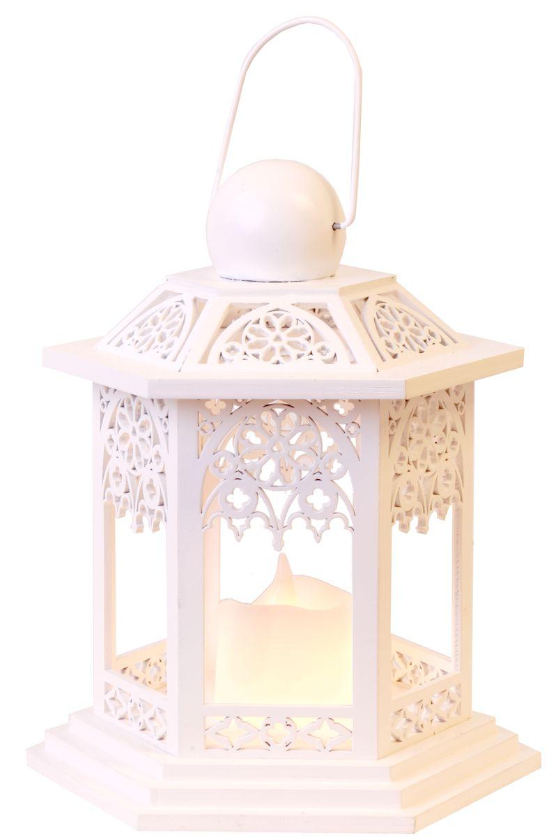 Свеча LED Star Trading Фонарь Lantern, 20 см, цвет: белый. 270-14270-14Свеча LED Фонарь Lantern 20 см, выс/ шир 20х14 см,на батарейке, белый, дерево