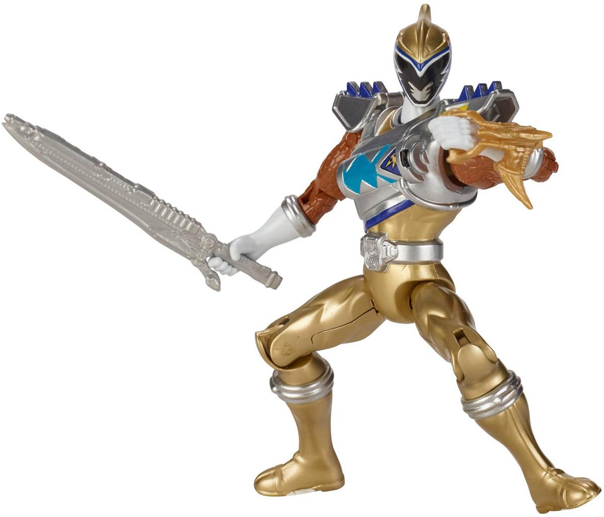 Power Rangers Фигурка Dino Drive Gold Ranger jada могучие рейнджеры фигурка black ranger