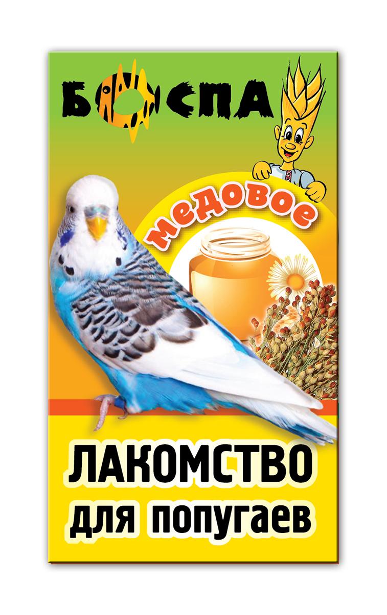 Лакомство для попугаев с медом 3 в 1 Боспа Груша, 100 гЕ383Лакомство для попугаев с медом 3 в 1 Боспа Груша - это дополнение к полнорационному корму. Для птиц в повседневном питании нужен вкусный, но сбалансированный полезный корм, который обеспечит им получение всех жизненно важных питательных веществ.Пропугаи получают необходимую энергию через полноценное питание, становятся веселыми и игривыми, радуют хозяев здоровой и блестящей шерстью Корм Боспа привлекателен для птиц неотразимым вкусом и запахом, и любим даже теми, кто со всей тщательностью подходит к выбору пищи. Состав: просо белое, просо красное, овес,суданка, сафлор, мед, семена подсолнечника, витамины А, В1, В2, В6, D, PP, йод в легкоусвояемой форме.