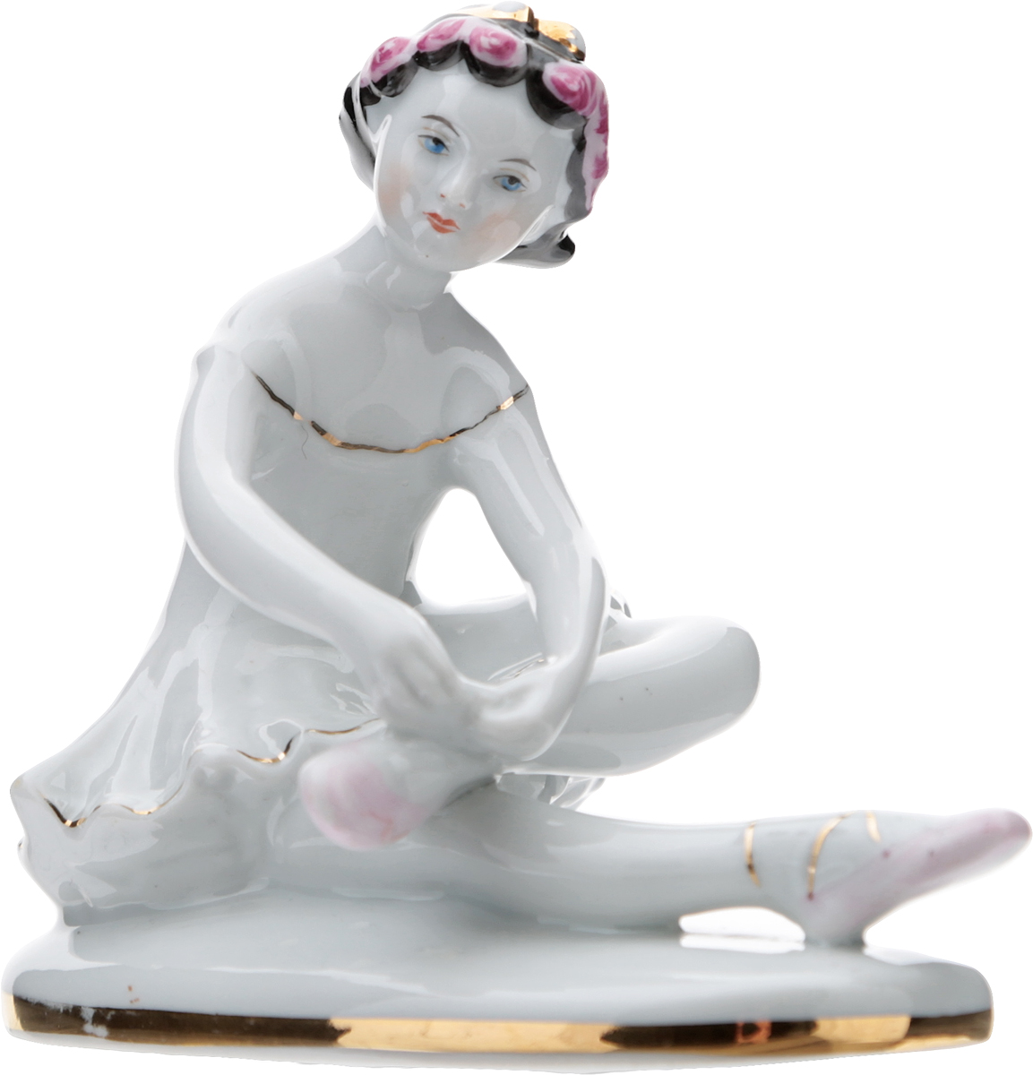 Статуэтка Юная балерина Машенька. Фарфор, роспись. СССР, ЛФЗ, 1950-е гг.