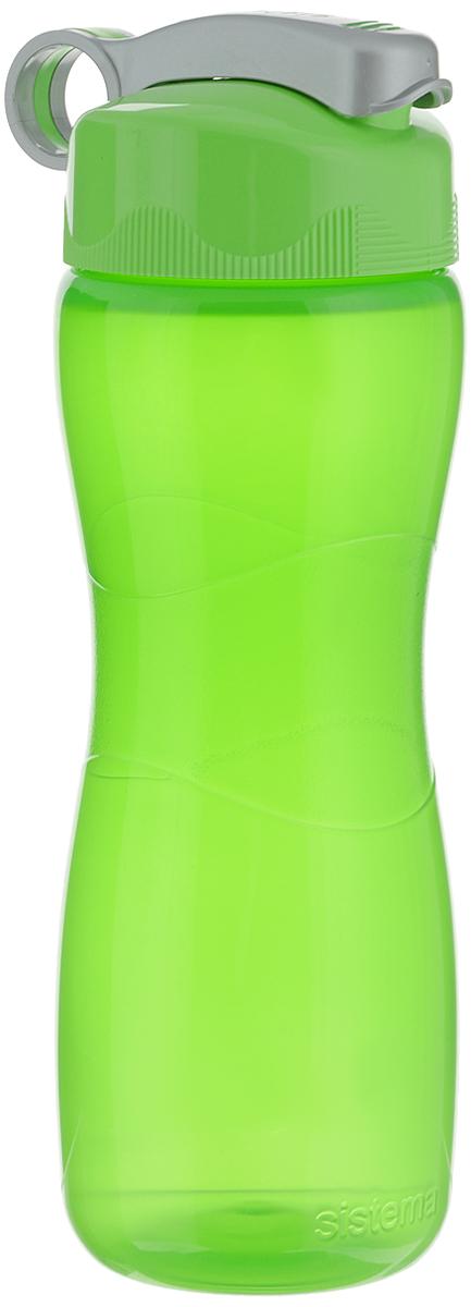 Бутылка для воды Sistema Hourglass, цвет: салатовый, 645 мл590_салатовыйБутылка для воды Sistema Hourglass изготовлена из прочного пищевого пластика без содержания фенола и других вредных примесей. Бутылка оснащена специальной крышкой, которая предотвращает проливание жидкости и позволяет удобно пить напитки. С такой бутылкой Вы сможете где угодно насладиться Вашими любимыми напитками. Специальное кольцо позволяет присоединить ее на рюкзак. Высота бутылки: 22,5 см.