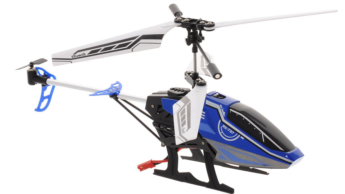 silverlit silverlit вертолет со стрелами helli blaster на радиоуправлении 3х канальный Silverlit Вертолет на радиоуправлении Sky Fury цвет синий