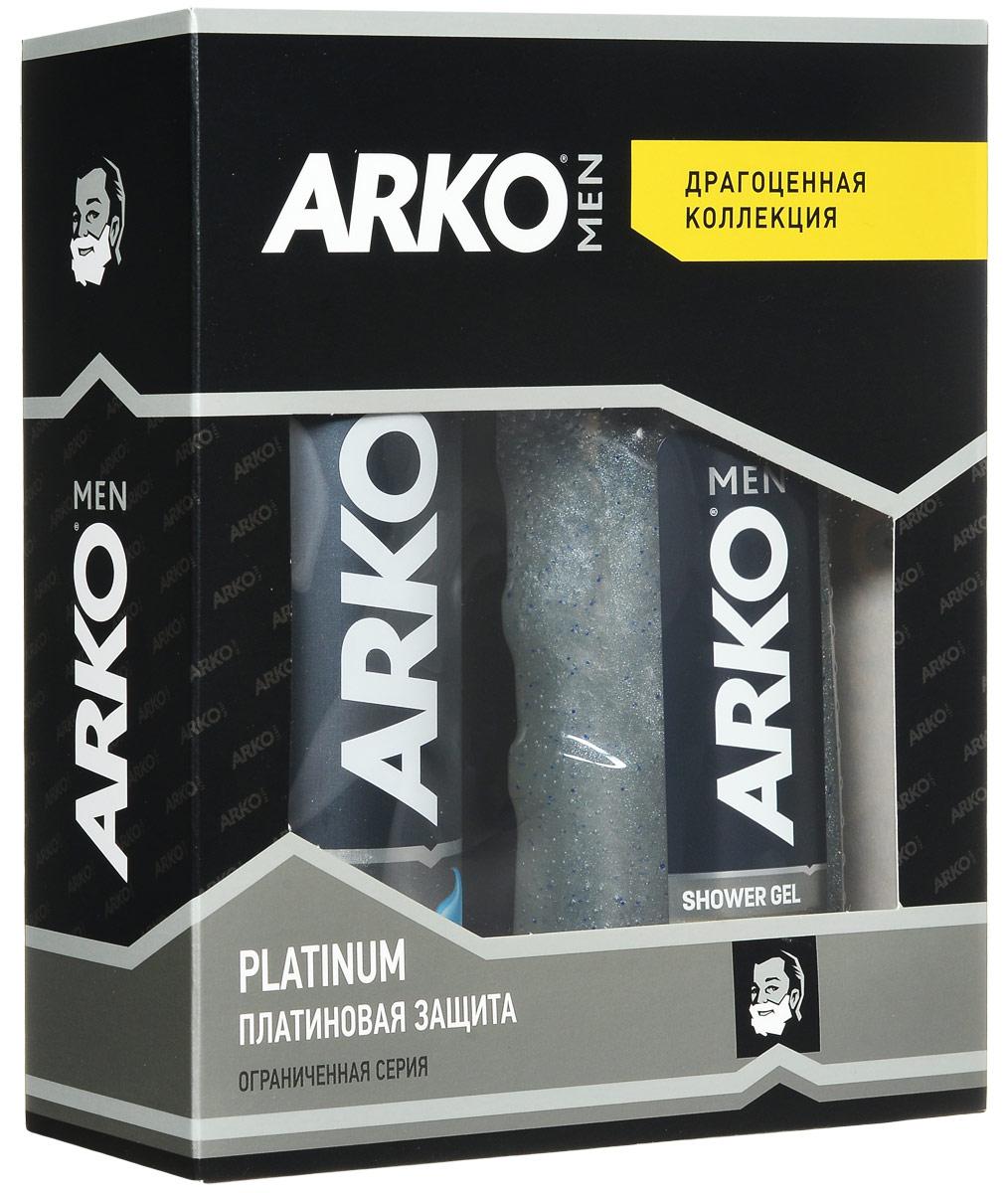 Arko Platinum: ГЕЛЬ 200мл+ГЕЛЬ для душа 250мл80057527Гель для бритья уменьшает риск возникновения жжения кожи от бритья, благодаря формуле алое вера и маслом лаванды, для мужчин с чувствительной кожей.