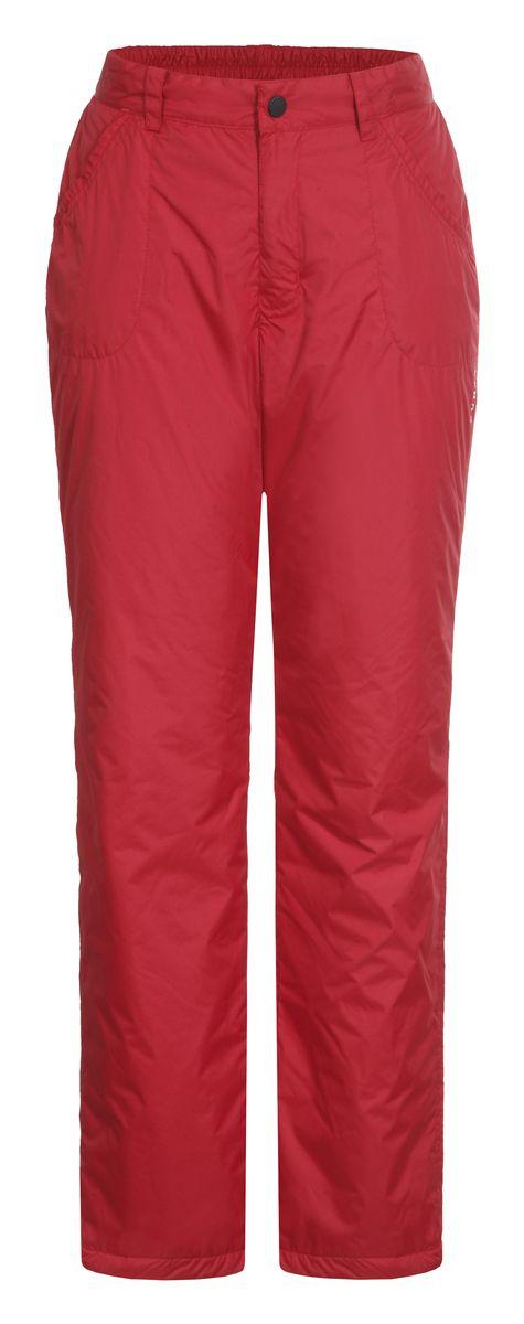 Брюки женские Luhta Saija, цвет: красный. 636707355LV. Размер 38 (44)636707355LVЖенские брюки от Luhta выполнены из полиэстера и утеплены синтепоном. Модель застегивается на пуговицу и крючок в талии и ширинку на молнии, имеются шлевки для ремня. Спереди брюки дополнены двумя врезными карманами. Низ брючин дополнен утяжками со стопперами.