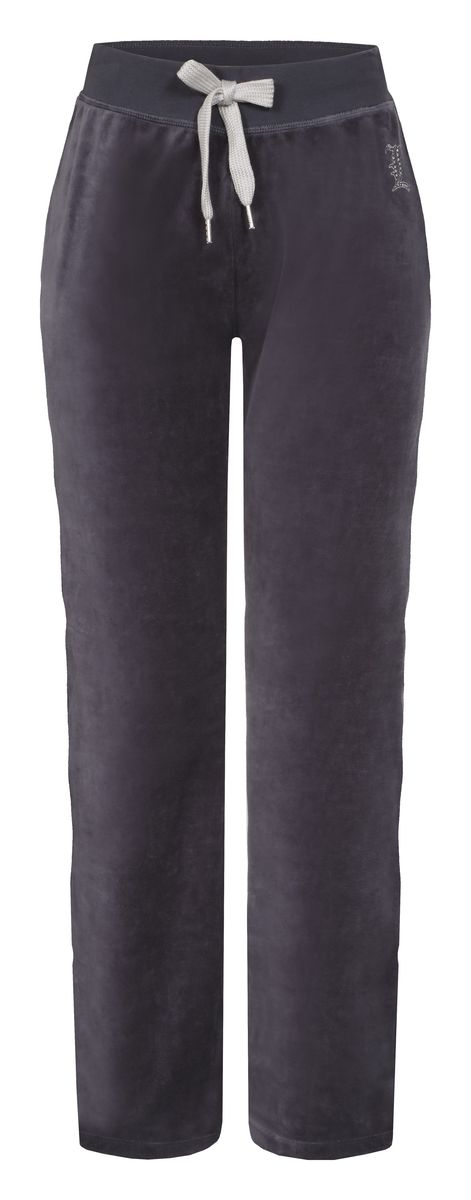 Брюки спортивные женские Luhta Selja, цвет: дымчатый. 636734324LV. Размер L (46)636734324LVУдобные женские спортивные брюки Luhta Selja великолепно подойдут для отдыха и занятий спортом. Изготовленные из высококачественного материала, они необычайно мягкие и легкие.Модель дополнена широкими эластичными резинками на поясе. Объем талии регулируется с внешней стороны при помощи шнурка-кулиски. Оформлено изделие небольшой аппликацией из страз в виде названия бренда .