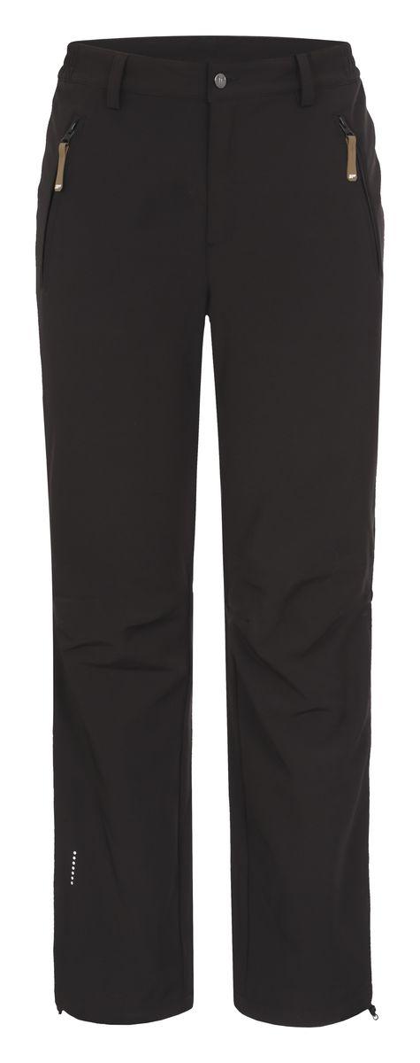 Брюки мужские Icepeak Sani, цвет: черный. 657020542IV. Размер XXL (56)657020542IVМужские брюки от Icepeak выполнены из эластичного полиэстера, с изнаночной стороны они утеплены флисом. Модель застегивается на пуговицу в талии и на ширинку на молнии, имеются шлевки для ремня. Спереди брюки дополнены двумя врезными карманами на застежках-молниях. Изделие оснащено светоотражающими элементами.