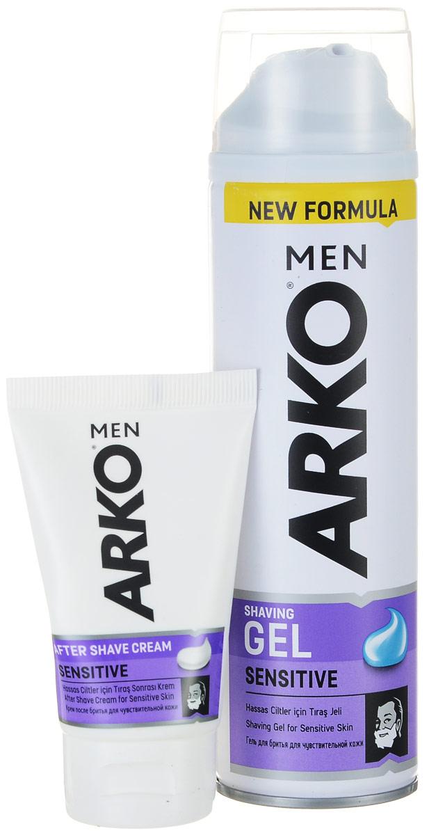 Arko Men Гель для бритья Sensitive 200мл+Arko Men Крем после бритья Sensitive 50мл (50%) недорого