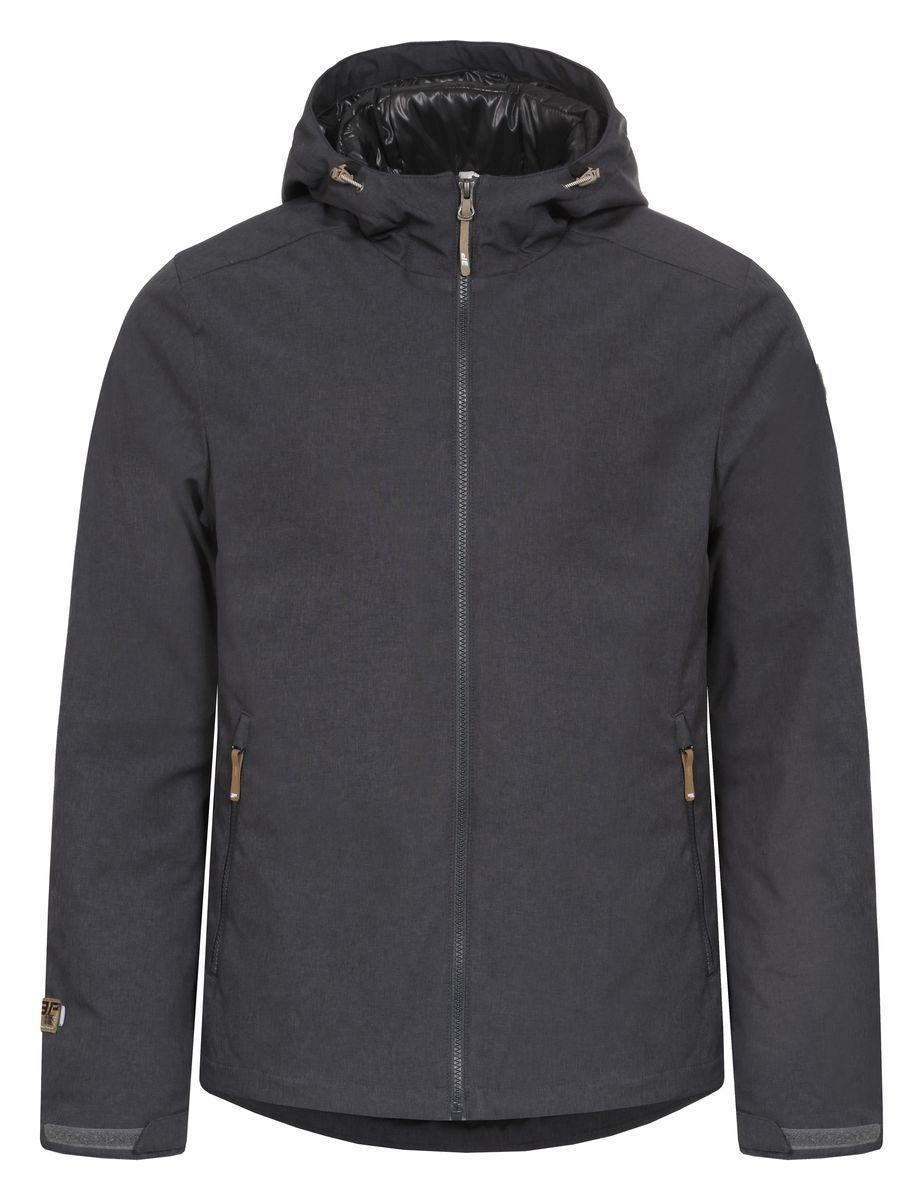 Куртка мужская Icepeak Timi, цвет: темно-серый. 657802547IV. Размер M (50)657802547IVКуртка Icepeak Timi, изготовленная из водоотталкивающей и ветрозащитной ткани, которая создает оптимальный микроклимат внутри куртки, в качестве утеплителя используется Ball Fiber (искусственный пух: 140г). Помимо этого здесь использовался утеплитель. Куртка с несъемным капюшоном застегивается на молнию с внутренним ветрозащитным клапаном. Рукава дополнены хлястиками на липучках для регулировки размера. Спереди куртка дополнена двумя врезными карманами на молнии, а с внутренней стороны расположены один втачной карман на молнии. Низ куртки дополнен кулиской со стопперами.
