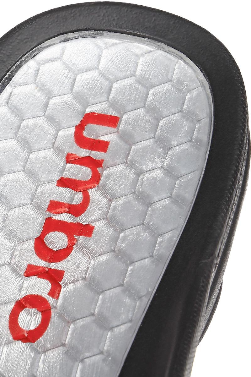 Шлепанцы мужские Umbro Slide, цвет:  черный, серебряный.  80490U.  Размер 7 (38,5) UMBRO
