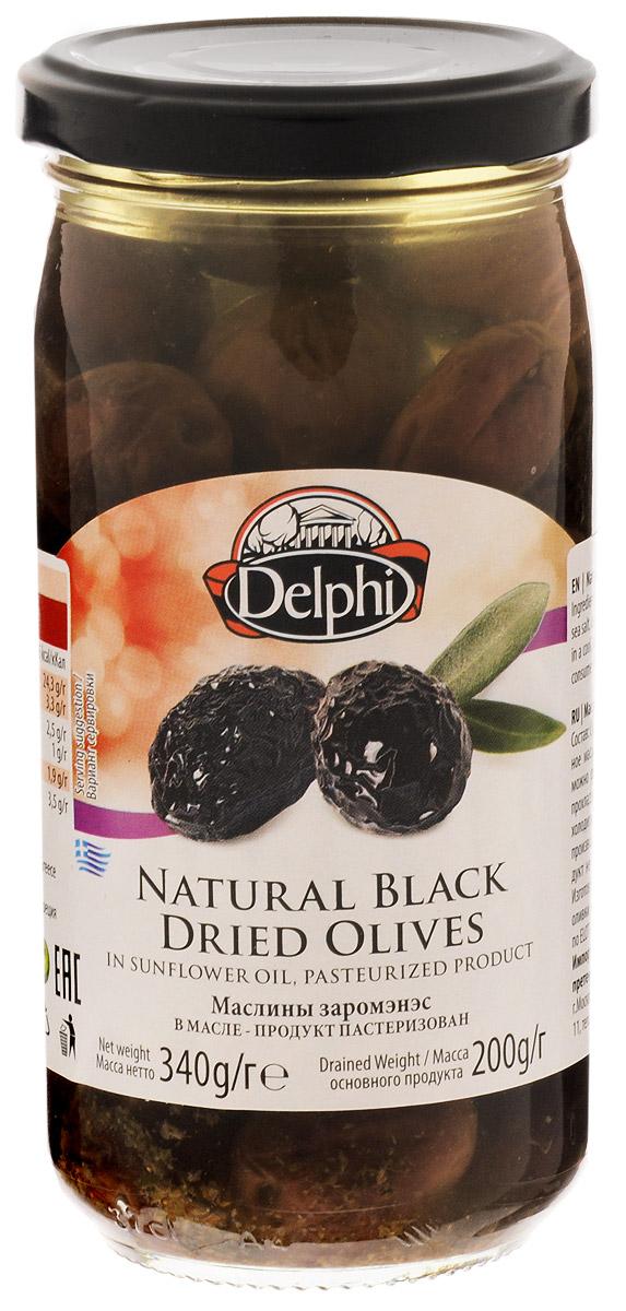 Delphi Маслины с косточкой Зароменес в масле, 340 г santolino маслины вяленые 400 г