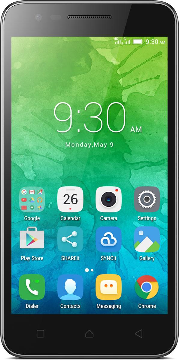 Lenovo C2 Power (K10a40), BlackPA450118RUСъемный аккумулятор, обеспечивающий длительное время автономной работы? Есть. Четырехъядерный процессор, обеспечивающий стабильную работу? Есть. Поддержка сетей 4G? Есть. Lenovo C2 Power предлагает все эти возможности и многое другое, включая новейшую версию операционной системы Android и аудио высокого качества.Путешествуй по сети, играй в игры, смотри видео и общайся круглые сутки со смартфоном Lenovo C2 Power. Аккумулятор этого смартфона очень емкий, легко снимается и очень быстро заряжается: часы мобильной свободы всего после нескольких минут подзарядки.Мощный четырехъядерный процессор и 2 ГБ оперативной памяти Lenovo C2 Power обеспечивают новые возможности для игр, просмотра фильмов, прослушивания музыки и работы с приложениями. Смартфон отличается не только ярким 5-дюймовым дисплеем стандарта HD, но и весьма привлекательной ценой.Узнавай новости и получай необходимую информацию одним движением, не переключаясь между приложениями и не сворачивая экран. Благодаря технологии энергосбережения смартфон работает дольше. Используй приложения и переключайся между ними так, как тебе удобно. Все эти и многие другие возможности доступны благодаря новейшей версии операционной системы Android.Lenovo C2 Power позволяет использовать два разных телефонных номера на одном смартфоне. Просто переключайся между операторами в поездках или если хочешь сэкономить. А благодаря поддержке высокоскоростных сетей 4G LTE ты всегда сможешь оставаться на связи.Делай фотографии и селфи превосходного качества одним движением с Lenovo C2 Power. Основная камера 8 Мпикс со встроенным автофокусом обеспечит отличное качество фотографий, а фронтальная камера 5 Мпикс поможет сделать прекрасные селфи.Забудь о плохом качестве звука при прослушивании любимой музыки. Благодаря технологии Waves MaxxAudio качество звучания динамиков Lenovo C2 Power превосходно в любой ситуации.Благодаря 16 ГБ внутренней памяти в стандартной комплектации в смартфоне хватит места для
