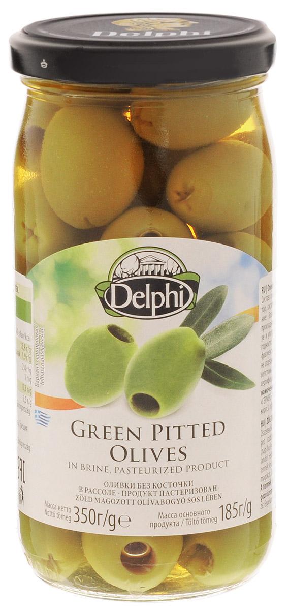 Delphi Оливки без косточек в рассоле, 350 г оливки зелёные pikarome без косточки в рассоле 350 г