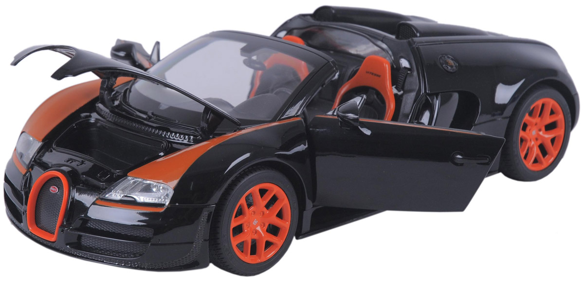 Rastar Модель автомобиля Bugatti Veyron 16.4 Grand Sport Vitesse цвет черный bugatti bu182amoko66