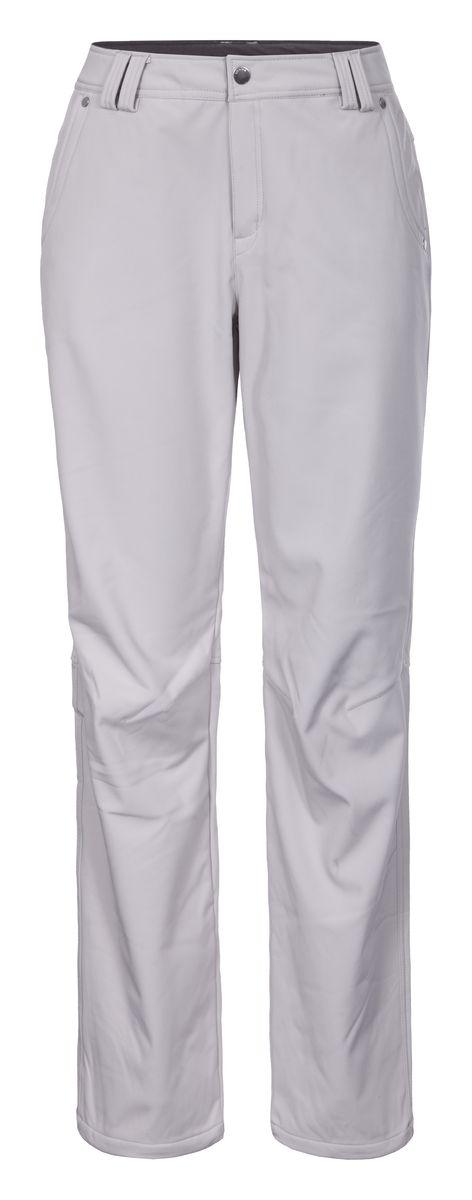 Брюки женские Luhta Sabina, цвет: светло-серый. 636703382LV. Размер 44 (50)636703382LVЖенские брюки от Luhta выполнены из эластичного полиэстера, с изнаночной стороны они утеплены флисом. Модель застегивается на пуговицу и крючок в талии и ширинку на молнии, имеются шлевки для ремня. Спереди брюки дополнены двумя врезными карманами, сзади двумя врезными карманами на застежках-молниях. Низ брючин дополнен утяжками со стопперами.
