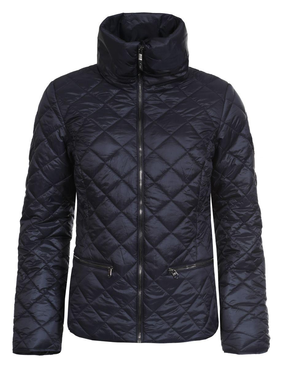 Куртка женская Luhta Piiku, цвет: темно-синий. 636474363LV. Размер 40 (46)636474363LVЖенская куртка Luhta Piiku с длинными рукавами и воротником-стойкой выполнена из полиамида. Наполнитель - синтепон.Куртка застегивается на застежку-молнию спереди. Изделие оснащено двумя втачными карманами на молниях спереди и внутренним втачным карманом на застежке-молнии. Куртка оформлена стеганым узором.