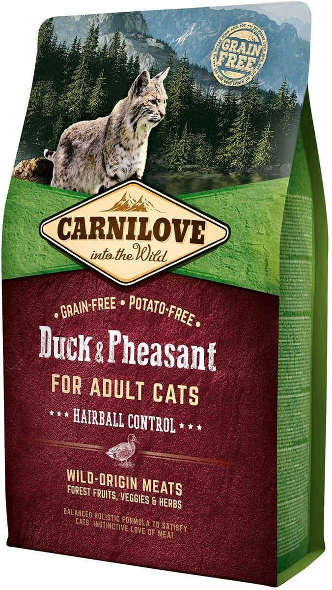 """Фото Корм сухой """"Carnilove"""", для кошек, беззерновой, с мясом утки и фазана, 2 кг"""
