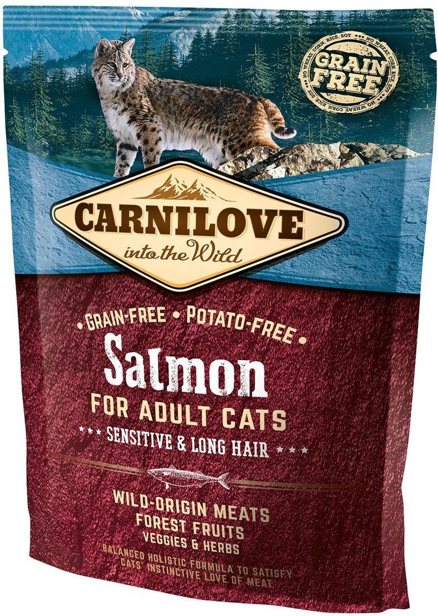 Корм сухой Carnilove, для кошек, беззерновой, с лососем, 400 г корм сухой наша марка для привередливых кошек с лососем и рисом 400 г