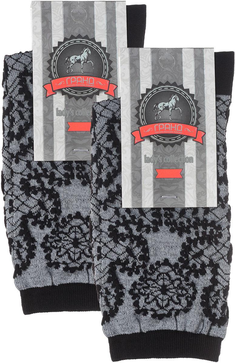 Носки женские Гранд, цвет: черный, 2 пары. SCL75. Размер 23/25 jd коллекция светло телесный 12 пар носков 15d две кости размер