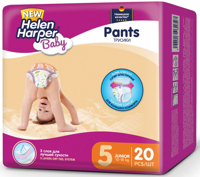 Helen Harper Подгузники-трусики Baby Junior 12-18 кг 20 шт