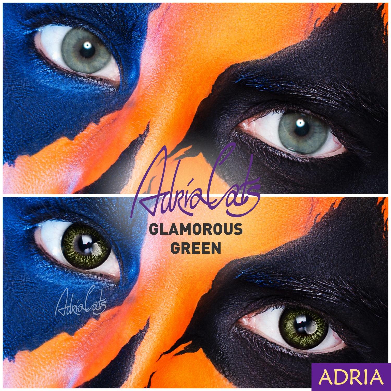 AdriaКонтактные линзы Glamorous color / 2 шт / -3. 00 / 8. 6 / 14. 5 / Green Adria