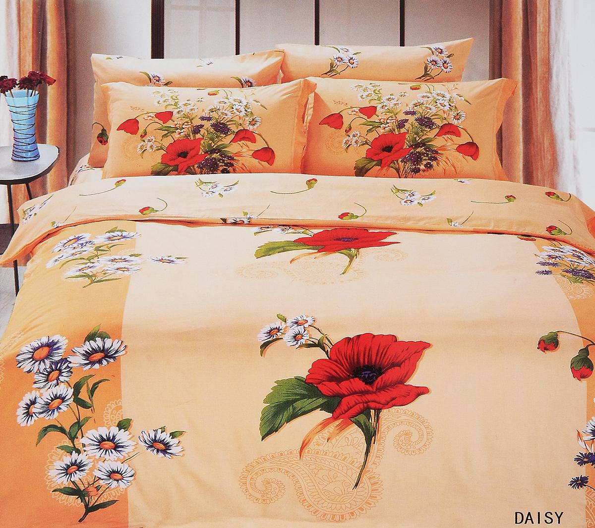 Комплект белья Le Vele Daisy, 2-спальный, наволочки 50х70740/84Комплект постельного белья Le Vele Daisy, выполненный из сатина (100% хлопка), создан для комфорта и роскоши. Комплект состоит из пододеяльника, простыни и 4 наволочек. Постельное белье оформлено оригинальным рисунком. Пододеяльник застегивается на кнопки, что позволяет одеялу не выпадать из него.Сатин - хлопчатобумажная ткань полотняного переплетения, одна из самых красивых, прочных и приятных телу тканей, изготовленных из натурального волокна. Благодаря своей шелковистости и блеску сатин называют хлопковым шелком. Приобретая комплект постельного белья Le Vele Daisy, вы можете быть уверены в том, что покупка доставит вам и вашим близким удовольствие и подарит максимальный комфорт.