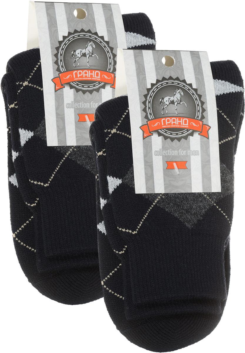 Носки мужские Гранд, цвет: темно-синий, 2 пары. ZWL48. Размер 27/29ZWL48Классические мужские носки из шерсти:- сделаны из натурального волокна с уникальной терморегуляцией - бесшовная технология (кеттельный, плоский шов)- устойчивы к сминанию- обеспечивают хороший воздухообмен и антибактериальную защиту- имеют оптимальную высоту паголенка - мягкая анатомическая резинка - усилены пятка и мысокНоски произведены по европейским стандартам на современный вязальных автоматах.