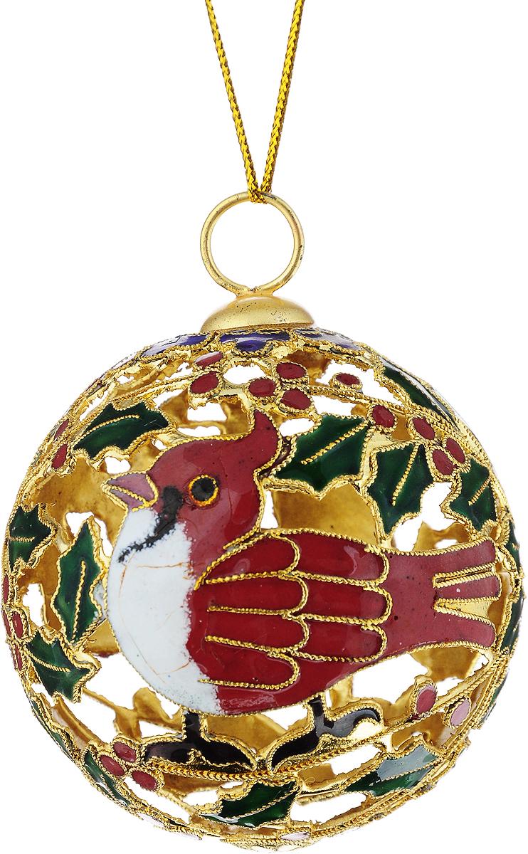 Украшение новогоднее подвесное Winter Wings Ажур, диаметр 6,5 смN079083Новогоднее подвесное украшение Winter Wings Ажур выполнено из металла в виде шара с изображением птицы. С помощью специальной петельки украшение можно повесить в любом понравившемся вам месте. Но, конечно, удачнее всего оно будет смотреться на праздничной елке.Елочная игрушка - символ Нового года. Она несет в себе волшебство и красоту праздника. Создайте в своем доме атмосферу веселья и радости, украшая новогоднюю елку нарядными игрушками, которые будут из года в год накапливать теплоту воспоминаний.