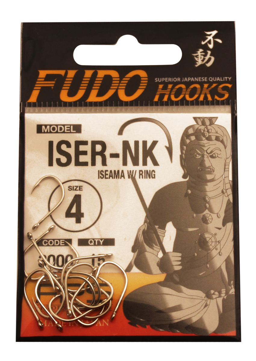 Крючок Fudo Iseama W/Ring, №4, 15 шт