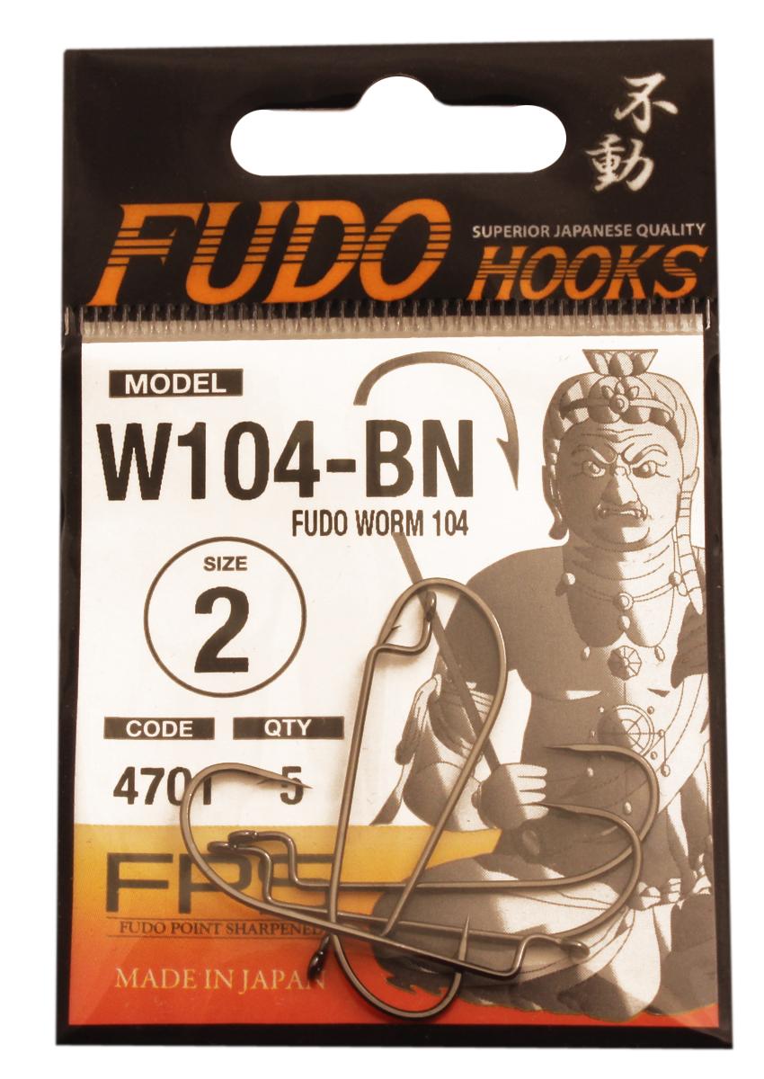 Крючок Fudo Worm, №2, 5 шт30064Рыболовные крючки Крючок Fudo Worm являют собой сочетание лучших материалов, лучших технологий и наилучших человеческих навыков. Основными характеристиками крючков являются оптимальная форма с точки зрения максимального улова, экстремальный заточка крюка, которая сохраняется при длительной ловле, отличная эластичность, что позволяет им противостоять деформации, общая коррозионная стойкость в процессе производства. Сталь с управляемым содержания углерода - это те материалы, которые применяются в производстве крючков.Прочность крючка реализуется через печи, где система компьютерной помощи регулирования температуры, позволяет достичь точности в производстве в 0,01°С, и времени обработки с точностью 0,001 секунды. В результате крючки получаются абсолютно закаленными, что позволяет добиться отличного результата по твердости и эластичность, а также все модели крючков обладают антикоррозионным покрытием.