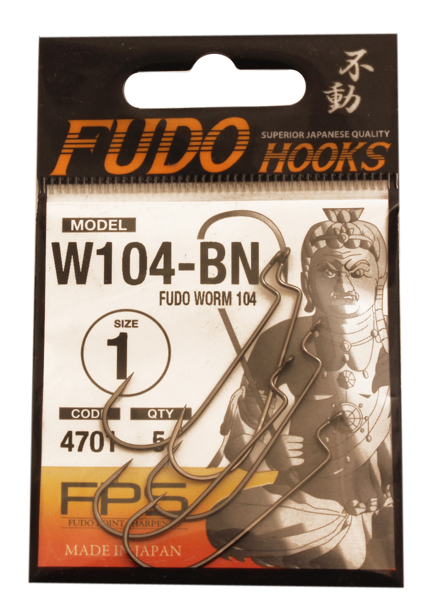 Крючок Fudo Worm, №1, 5 шт
