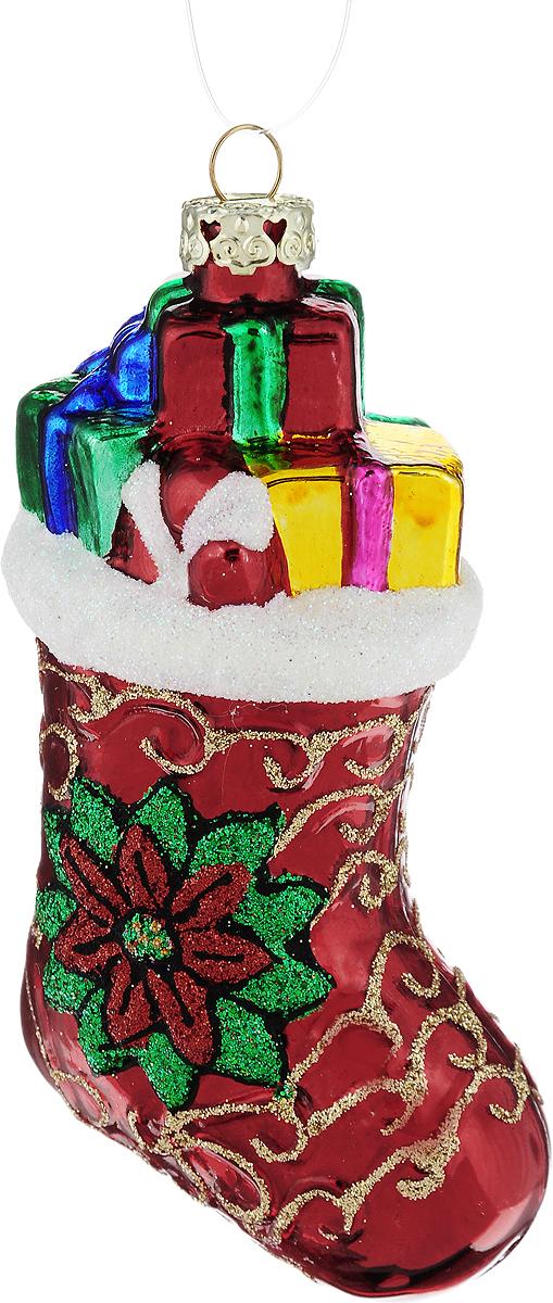 Украшение новогоднее подвесное Winter Wings Башмачок, высота 10 смN07620Новогоднее подвесное украшение Winter Wings Башмачок выполнено из стекла в виде башмака и украшено блестками. С помощью специальной петельки украшение можно повесить в любом понравившемся вам месте. Но, конечно, удачнее всего оно будет смотреться на праздничной елке.Елочная игрушка - символ Нового года. Она несет в себе волшебство и красоту праздника. Создайте в своем доме атмосферу веселья и радости, украшая новогоднюю елку нарядными игрушками, которые будут из года в год накапливать теплоту воспоминаний.