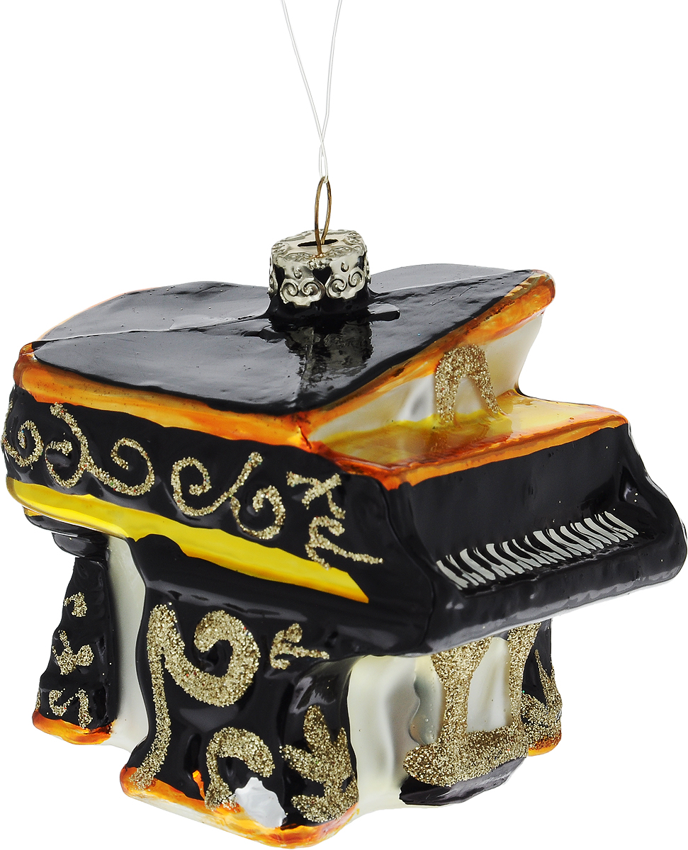 Украшение новогоднее подвесное Winter Wings Рояль, длина 8 смN07628Новогоднее подвесное украшение Winter Wings Рояль выполнено из стекла в виде рояля и украшено блестками. С помощью специальной петельки украшение можно повесить в любом понравившемся вам месте. Но, конечно, удачнее всего оно будет смотреться на праздничной елке.Елочная игрушка - символ Нового года. Она несет в себе волшебство и красоту праздника. Создайте в своем доме атмосферу веселья и радости, украшая новогоднюю елку нарядными игрушками, которые будут из года в год накапливать теплоту воспоминаний.