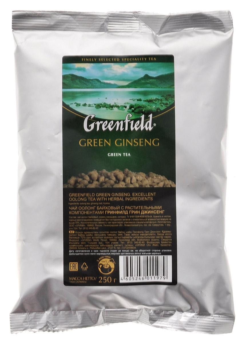 Greenfield Green Ginseng женьшеневый листовой чай, 250 г
